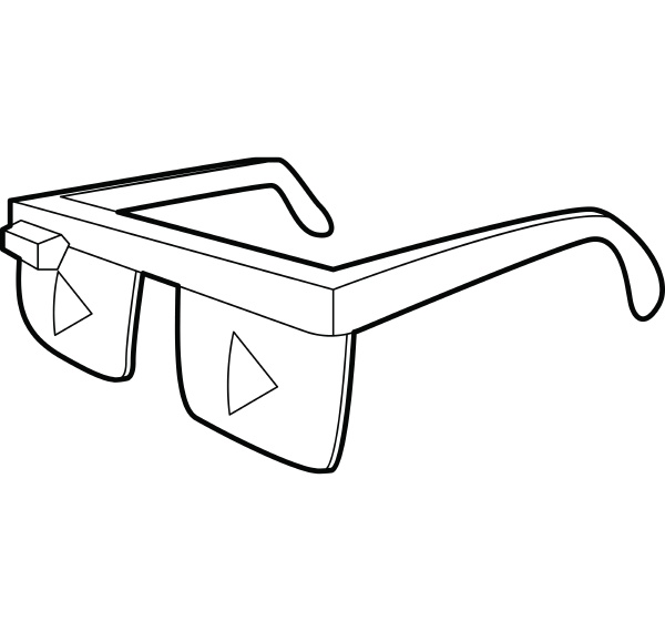 smart glasses icon outline style