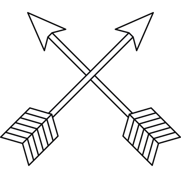 arrows lgbt icon outline style