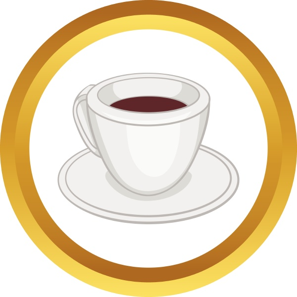 white cup of coffee vector icon