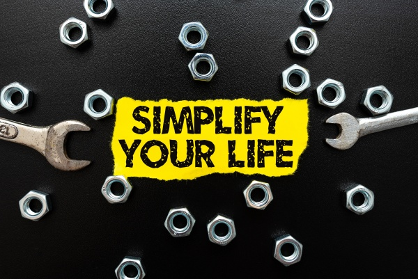 conceptual display simplify your life business