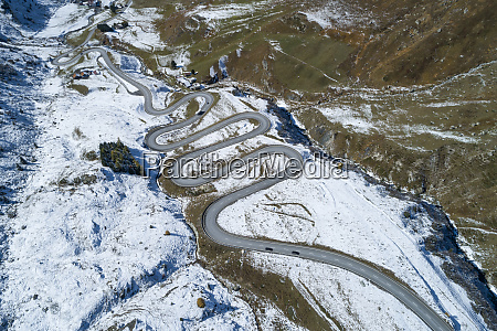 switzerland canton of grisons drone view