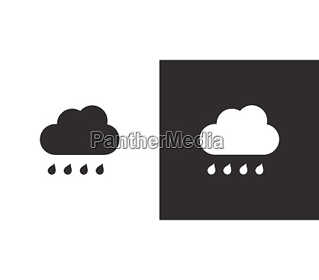 cloud and raindrop isolated icon on