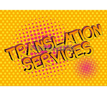 translation services comic book style cartoon
